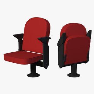 auditorium chair 3D model