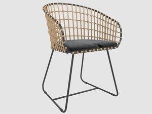 3D model chaise tokyo pols potten
