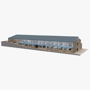 modern european building 05 model