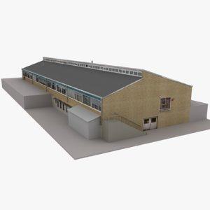 3D model modern european building 09