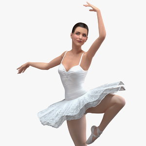 ballerina rigged female 3D