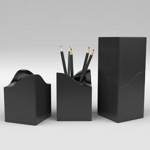 3D pencil pen holder