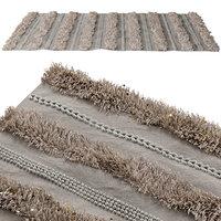 Shag rug with glitter