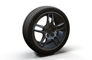 3D model sport car wheel rim