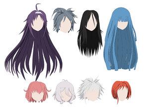 3D hair anime