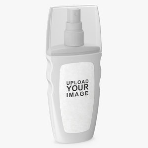 3D spray bottle white