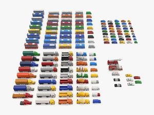 3D vehicles 145 colors -