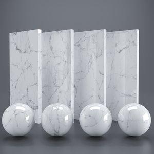 White carrara marble PBR Vray Corona