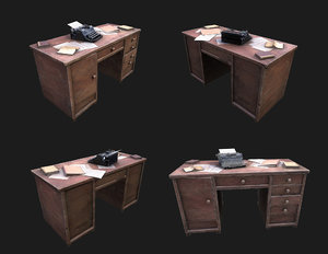 paper table wwii 3D model