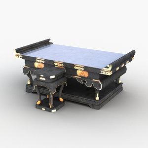 3D model altar table