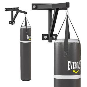 3D boxing punch bag model