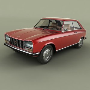 1970 peugeot 304 coupe 3D