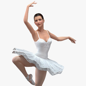 ballerina rigged female model