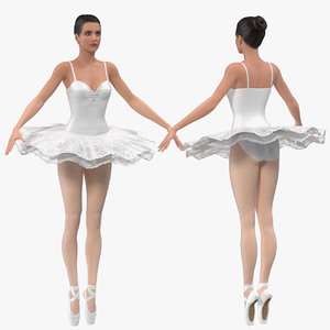 3D model ballerina rigged female