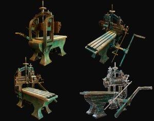 planer metalworking wwii 3D model