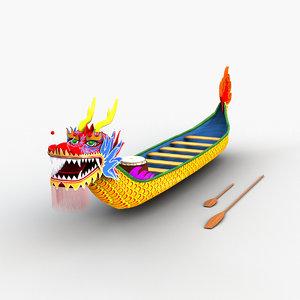 3D dragon boat model