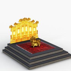 3D emperor throne