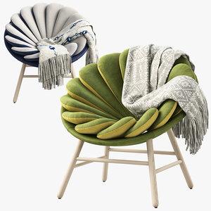 quetzal fauteuil marc venot 3D model