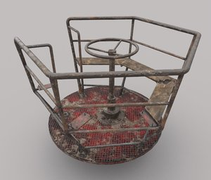 abandoned merry-go 3D model
