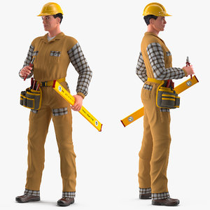 builder rigged male 3D model