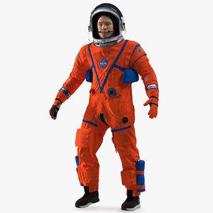3D nasa ocss astronaut spacesuit