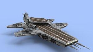 helicarrier s h e 3D model