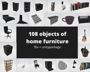 home bedroom furniture children s 3D model