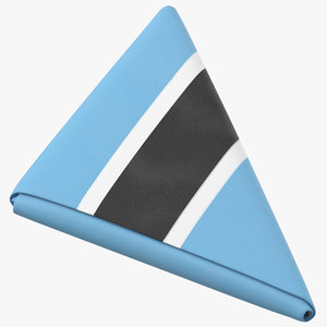 flag folded triangle botswana 3D model