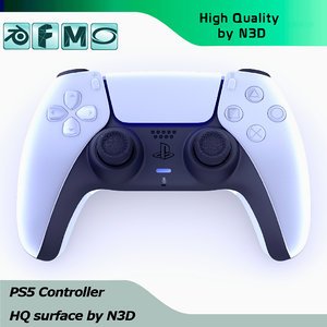 3D playstation 5 controller hq