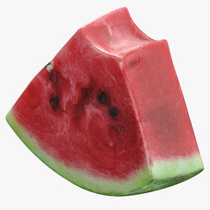 watermelon slice 01 bit 3D model
