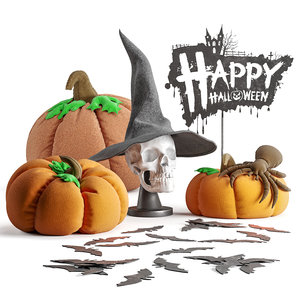3D halloween decor model