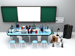 laboratory furniture equipment 3D