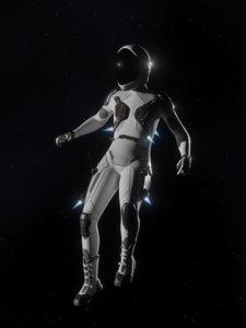 space flight suit 3D model