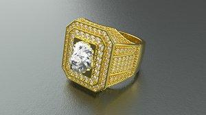 lion ring diamond 3D model