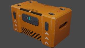 3D model scifi container