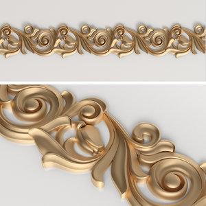 decorative frieze cnc 3D model