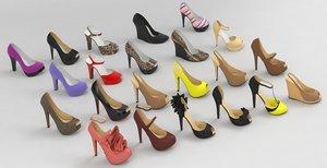 3D model fashion women shoes