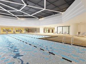 interior scene hotel pool 3D model