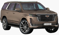 Cadillac Escalade 2021 (Opening doors and trunk)