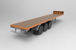 old trailer randon 3D model