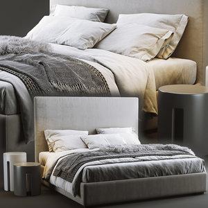 meridiani bardo bed 3D model