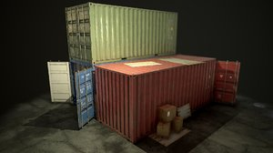shipping container asset 3D model