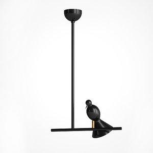 3D hanging lamp alouette bird