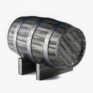 wine barrel 3D