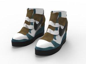 3D nike sneakers tall model