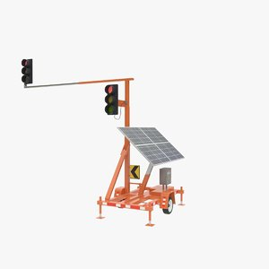 3D portable traffic light