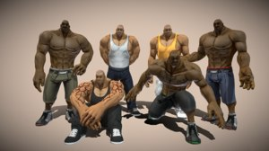 3D model characters pack