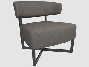 tauro lounge chair andreu 3D model