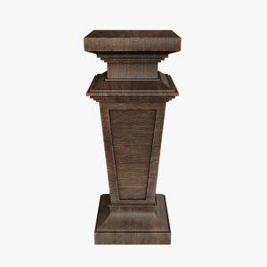 neoclassical pedestal 3D model