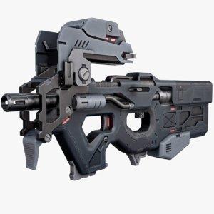 3D futuristic p90 model